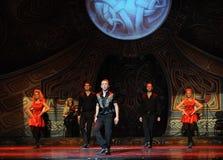 Αντιμετωπίστε-Ο ιρλανδικός εθνικός χορός βρυσών χορού Στοκ Εικόνες