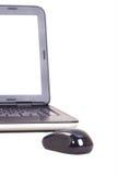 αντιμετώπιση του ραδιοφώνου ποντικιών lap-top Στοκ εικόνα με δικαίωμα ελεύθερης χρήσης
