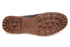 Αντιολισθητικά λαστιχένια πέλματα και πλήρες isola μποτών δέρματος σιταριού nubuck Στοκ εικόνα με δικαίωμα ελεύθερης χρήσης