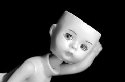 αντιπαραβάλτε την κούκλα  Στοκ Φωτογραφία