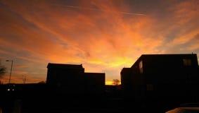 Αντιπαραβαλλόμενος ουρανός Στοκ φωτογραφία με δικαίωμα ελεύθερης χρήσης