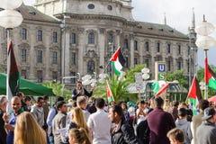 Αντιπολεμική συνάθροιση υπέρ των παλαιστινιακών ανθρώπων στοκ φωτογραφία