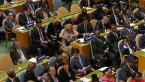 Αντιπροσωπεία της Κροατίας στη Γενική Συνέλευση Ηνωμένων Εθνών απόθεμα βίντεο