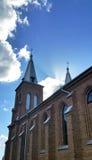 Αντιπροσωπεύοντας το νεογοτθικό ύφος, είναι η μεγαλύτερη εκκλησία πετρών στη Λιθουανία Στοκ Εικόνα