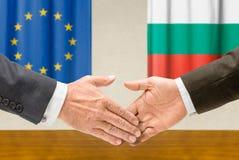 Αντιπρόσωποι της ΕΕ και της Βουλγαρίας στοκ φωτογραφία