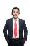 Αντιπρόσωπος εξυπηρέτησης πελατών που φορά μια κάσκα Στοκ φωτογραφία με δικαίωμα ελεύθερης χρήσης
