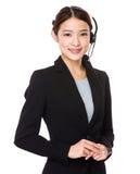 Αντιπρόσωπος εξυπηρετήσεων πελατών στοκ φωτογραφία