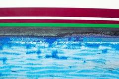 αντιρρυπαντική μπλε πλευρά χρωμάτων βαρκών grunge Στοκ φωτογραφία με δικαίωμα ελεύθερης χρήσης