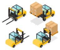Αντισταθμισμένο Forklift φορτηγό με τα κιβώτια Στοκ Φωτογραφία