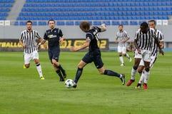 Αντιστοιχία ένωσης UEFA Ευρώπη μεταξύ FC Olimpik εναντίον FC ΠΑΟΚ Στοκ φωτογραφία με δικαίωμα ελεύθερης χρήσης