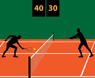 Αντιστοιχία αντισφαίρισης στον άργιλο Στοκ φωτογραφίες με δικαίωμα ελεύθερης χρήσης