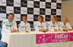 Αντιστοιχία Ουκρανία αντισφαίρισης FedCup εναντίον της Αργεντινής Στοκ εικόνα με δικαίωμα ελεύθερης χρήσης