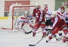 αντιστοιχία πάγου χόκεϋ Στοκ εικόνες με δικαίωμα ελεύθερης χρήσης