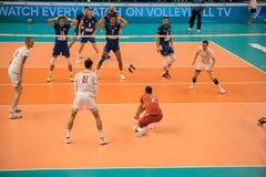 Αντιστοιχία πετοσφαίρισης, Παγκόσμιο Κύπελλο στοκ φωτογραφία με δικαίωμα ελεύθερης χρήσης