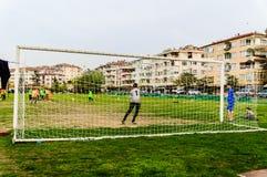 Αντιστοιχία ποδοσφαιρικού πρωταθλήματος παιδιών - Τουρκία Στοκ Φωτογραφίες