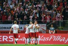 Αντιστοιχία προσόντων Rusia 2018 Παγκόσμιου Κυπέλλου Πολωνία - Καζακστάν Στοκ Φωτογραφίες