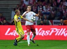 Αντιστοιχία προσόντων Rusia 2018 Παγκόσμιου Κυπέλλου Πολωνία - Καζακστάν Στοκ φωτογραφία με δικαίωμα ελεύθερης χρήσης