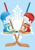 αντιστοιχία χόκεϋ Στοκ εικόνα με δικαίωμα ελεύθερης χρήσης