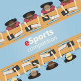 Αντιστοιχία ESports 5v5, ομάδα εναντίον της ομάδας Στοκ Εικόνες