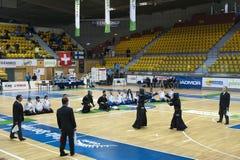 αντιστοιχία kendo Στοκ φωτογραφίες με δικαίωμα ελεύθερης χρήσης