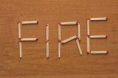 αντιστοιχίες ξύλινες Στοκ Φωτογραφίες