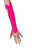 αντισφαίριση αγκώνων kinesiotape Στοκ φωτογραφία με δικαίωμα ελεύθερης χρήσης