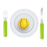 αντισφαίριση πιάτων σφαιρών απεικόνιση αποθεμάτων