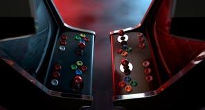 Αντιτιθέμενη μονομαχία μηχανών Arcade Στοκ Φωτογραφίες
