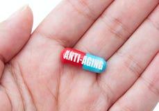 Αντι-γηράσκον χάπι Στοκ εικόνες με δικαίωμα ελεύθερης χρήσης