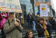 αντι διαμαρτυρία του Παρισιού αυστηρότητας στοκ εικόνες