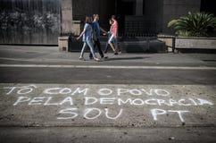 Αντιδιαβρωτική διαμαρτυρία στο Σάο Πάολο, Βραζιλία Στοκ Εικόνες