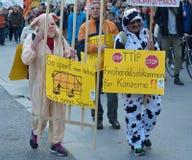 Αντι διαμαρτυρία TTIP στο Μόναχο Γερμανία Στοκ φωτογραφία με δικαίωμα ελεύθερης χρήσης