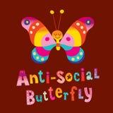 Αντι κοινωνική πεταλούδα στοκ εικόνα με δικαίωμα ελεύθερης χρήσης