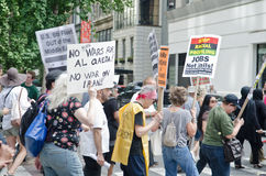Αντι πολεμική διαμαρτυρία Στοκ φωτογραφίες με δικαίωμα ελεύθερης χρήσης