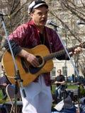 Αντι πυρηνικός τραγουδιστής διαμαρτυρίας Στοκ Φωτογραφίες