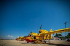 Αντι πυρκαγιές αεροπλάνων Στοκ Φωτογραφίες