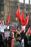 αντι πόλεμος διαμαρτυρίας του Λονδίνου Στοκ φωτογραφία με δικαίωμα ελεύθερης χρήσης