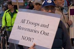 αντι πόλεμος διαμαρτυρία Στοκ Εικόνα