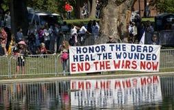 αντι πόλεμος ενεργών στε&l στοκ εικόνα με δικαίωμα ελεύθερης χρήσης
