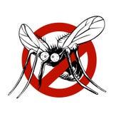Αντι σημάδι κουνουπιών Στοκ εικόνα με δικαίωμα ελεύθερης χρήσης
