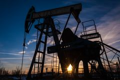 αντλία Ρωσία πετρελαίου βιομηχανίας Στοκ Εικόνες
