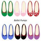 Αντλίες μπαλέτου παπουτσιών μόδας γυναικών Στοκ φωτογραφία με δικαίωμα ελεύθερης χρήσης