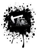 Αντλία πετρελαίου Grunge Στοκ εικόνες με δικαίωμα ελεύθερης χρήσης