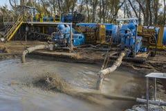 Αντλίες λάσπης γεώτρησης πετρελαίου Στοκ Φωτογραφία