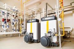 Αντλίες καυστήρων αερίου λεβήτων αερίου βιομηχανίας Στοκ Εικόνες