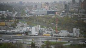 Ανυψωμένη άποψη πέρα από την πόλη του Κίεβου, Ουκρανία - χρονικό σφάλμα φιλμ μικρού μήκους