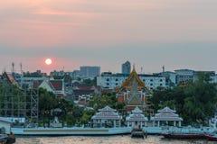 Ανυψωμένη άποψη Wat Arun, ναός της Dawn Στοκ φωτογραφία με δικαίωμα ελεύθερης χρήσης
