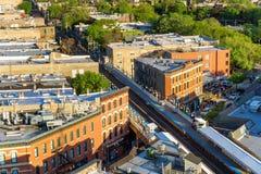 Ανυψωμένος το Σικάγο σταθμός τρένου Στοκ Εικόνες