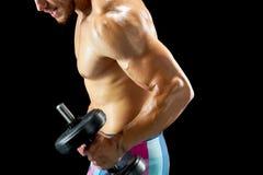 Ανυψωτικός αλτήρας για να χτίσει τους μυς στοκ εικόνες