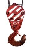 Ανυψωτικός γάντζος ενός γερανού κατασκευής Στοκ φωτογραφία με δικαίωμα ελεύθερης χρήσης